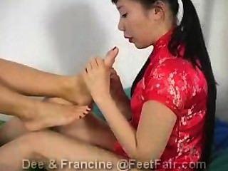 Füße Messe dee und Francine Teil 1