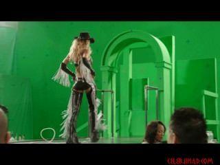 jessica alba Strippen hinter den Kulissen grünen Bildschirm von Sin City 2