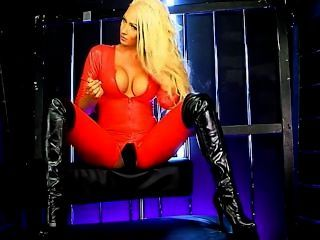 lucy Sommern rot Catsuit s66