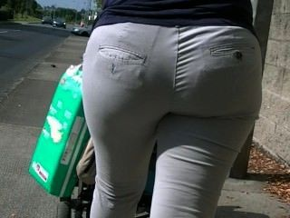 offen big ass blonde Milf Walking