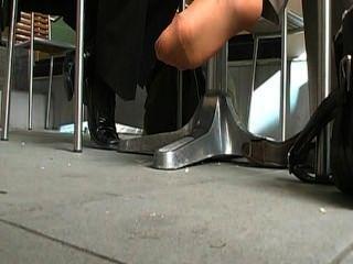 nyloned toe-Wackeln