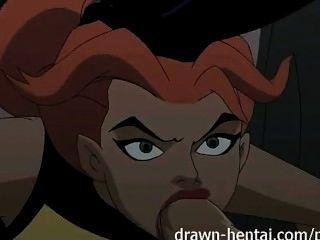 Justice League Hentai - zwei Küken für batman Schwanz