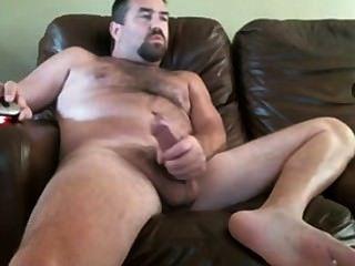 Papa mit einem großen Schwanz auf Webcam