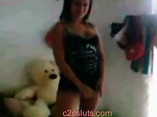 Latin Teen Upskirt und Arsch in minifalda