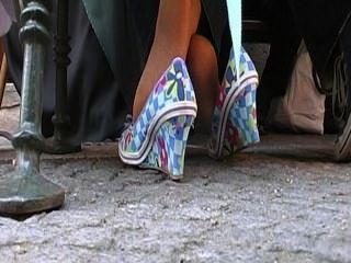 Coed Fußstrumpf Aktivitäten einer reifen Dame