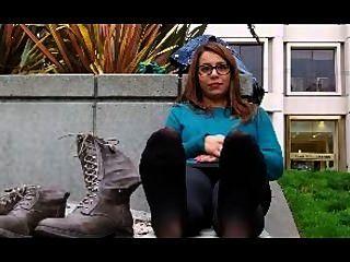 stinkende Füße bestrumpften Interview