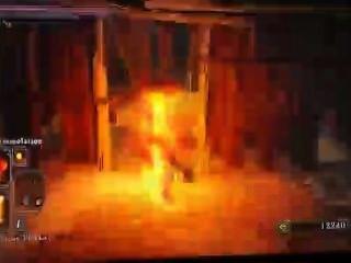 rot Mann mit Turban flammend