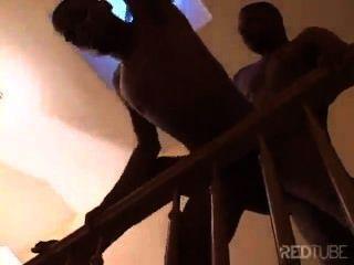 Sex auf der Treppe