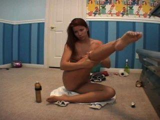 sarah blake Lotionieren up vor dem Gerben Nackt