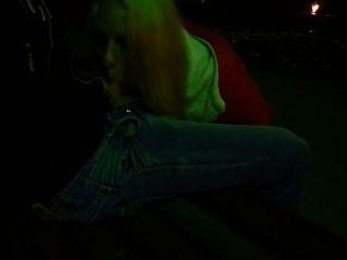 Blowjob im Park am Abend ihr Freund