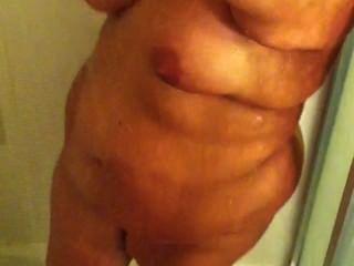 meine Frau in der Dusche