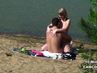 Deutsch junge Voyeur Paar zu ficken am Strand von Boltenhagen