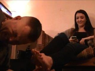 eine Freundin Fuß lecken, küssen und Anbetung Teil1