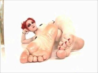 rothaarigen goth geölt Füße
