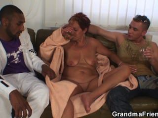 interracial Oma Double Penetration