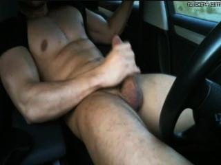 athletischen Gestüt in einem Auto Wichsen