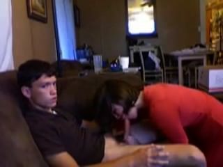 Ficken Babysitter auf der Couch