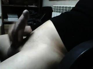 geilen Kerl seinen Schwanz an der Webcam masturbieren!