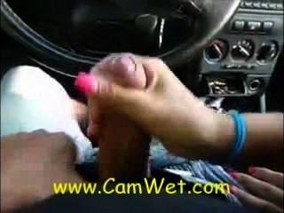 Oralsex während der Auto-Test