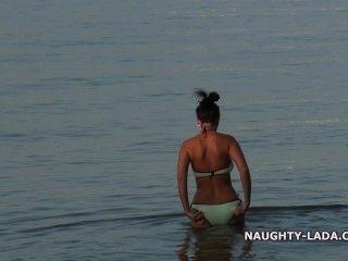 meine nasse schiere Badeanzug