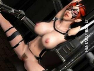 vollbusige 3d anime Sklave wird gefickt