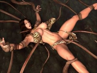 cavewoman vs Tentakeln