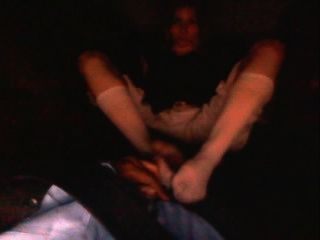 interracial Nylon foot