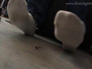 unter dem Fuß getötet