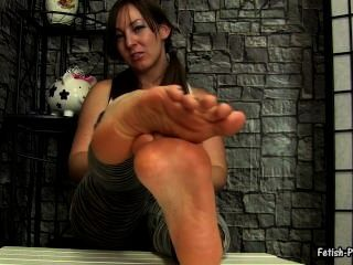 Brünette Fuß joi