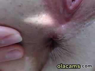 close-up rasierte Muschi Teen auf Webcam