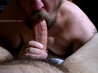 großen Schwanz daddybear Blowjob