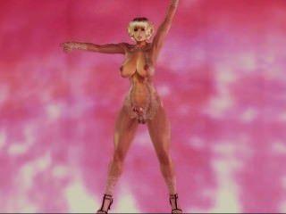 3d [Vergessenheit] futa Tanz - maskierte Hündin