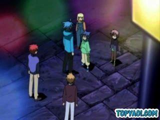 Hentai Homosexuell Aktion zwei Jungen berühren Barraum