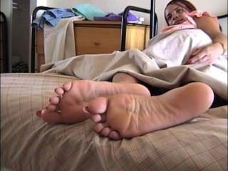 Vogel lange Fußnägel