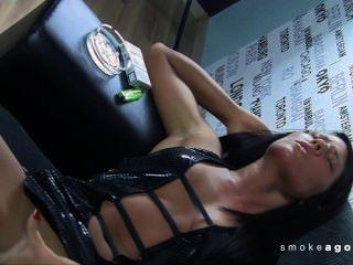 unbearbeitet! slef fingern und schnellen Orgasmus vor Rauch Schießen
