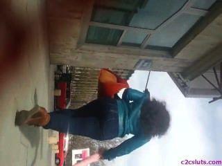 Spion hot ass Jugendliche in der Straße rumänisch
