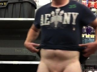 Schwanz bei Walmart zu blinken !!