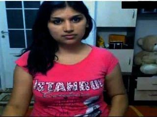 hot indisches Mädchen nackt vor der cam ihre Brüste & fingern in Muschi possing