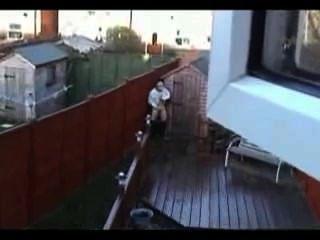 Ruckeln auf dem Dach gefangen