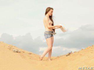 heißes Mädchen am Strand!