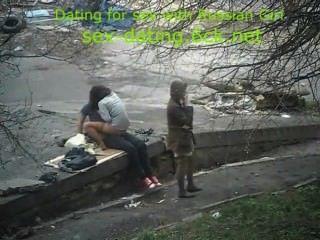 die beschmutzte Sex auf der Straße
