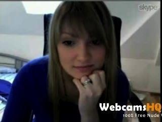 Webcam Wichsen - super sexy Teenager wird nackt auf Cam