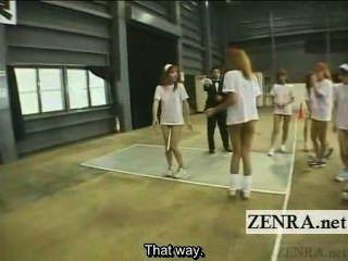 untertitelte boden japanische gyaru Gruppe Taktstock Relais