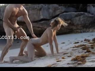 extreme Kunst Sex von Smart Paar am Strand