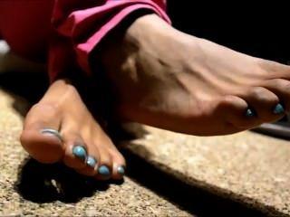 Ebenholz Füße in den Fersen (tease)