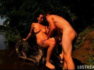 nassen und wilden Badezeit