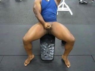 Fitness-Studio Ratte schießt an der Gymnastik