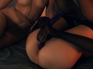 verrückt lezzs in Nylon Anzüge Sex
