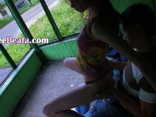 unsere erste Outdoor-Sex auf dem Busbahnhof
