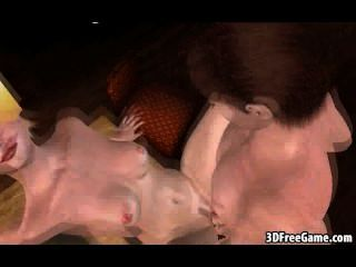 foxy 3D-Comic-Blondine saugt Hahn und wird gefickt